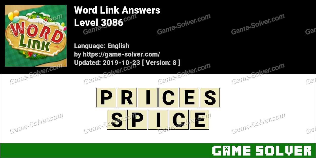 Word Link Level 3086 Answers
