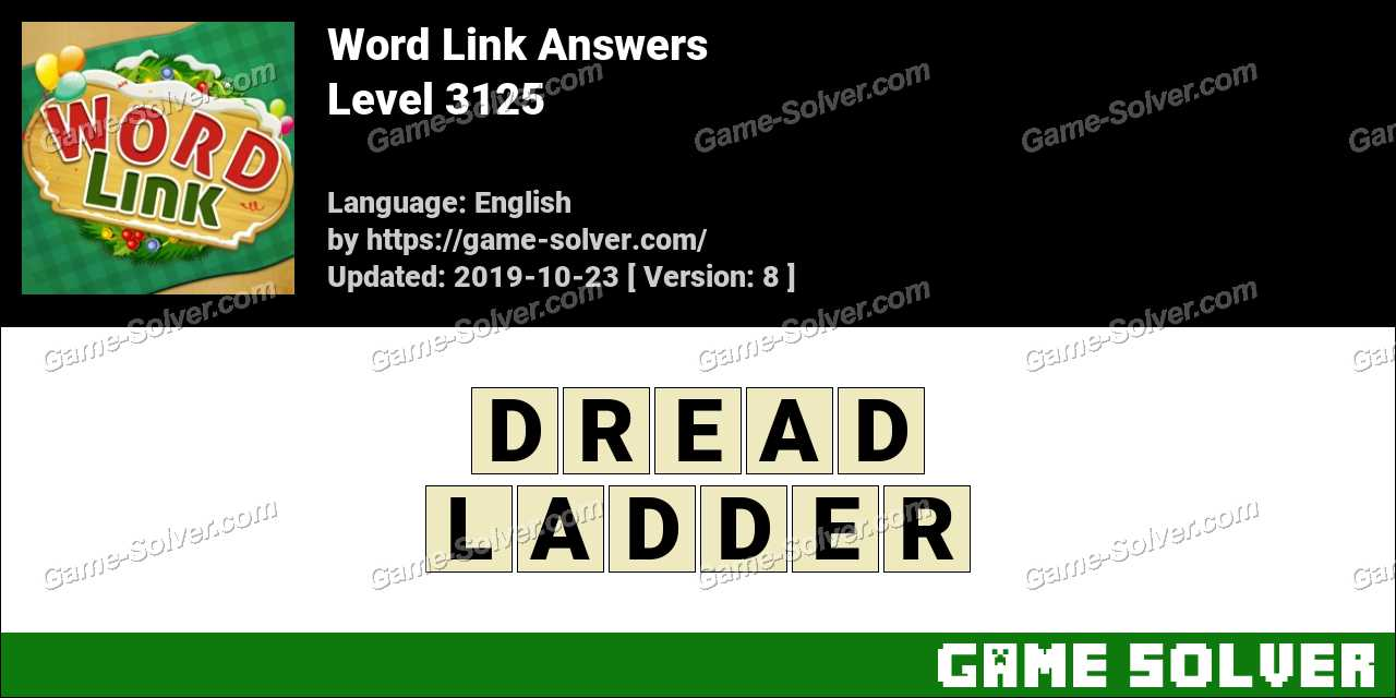 Word Link Level 3125 Answers