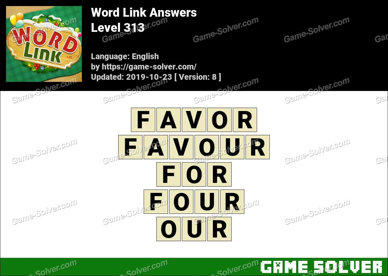 Word Link Level 313 Answers