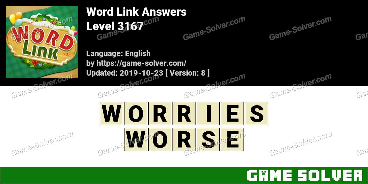 Word Link Level 3167 Answers