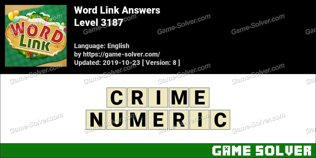 Word Link Level 3187 Answers