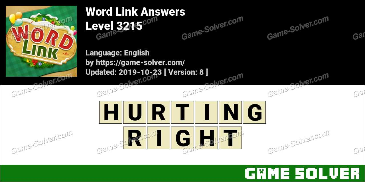 Word Link Level 3215 Answers