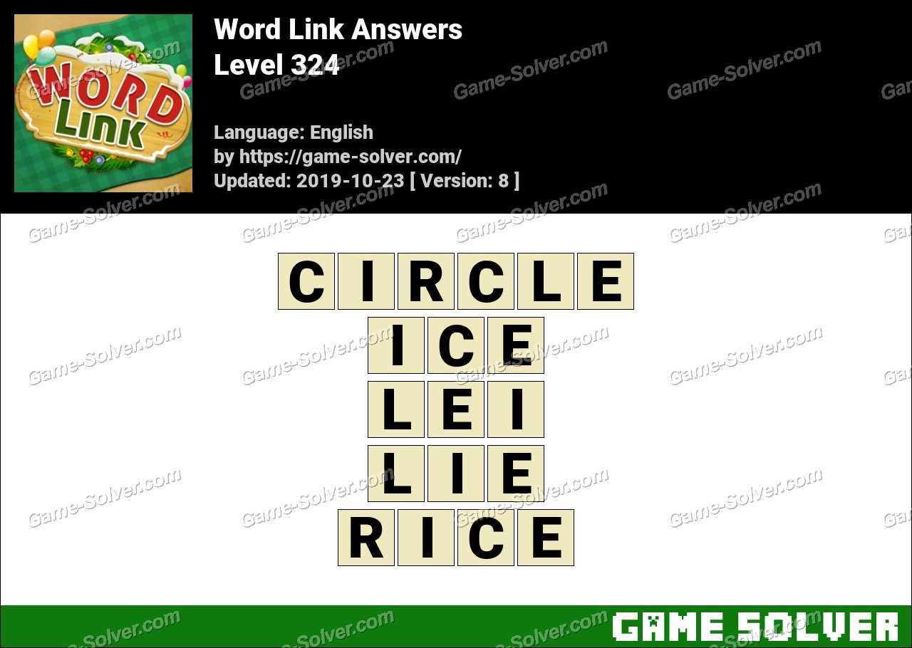 Word Link Level 324 Answers