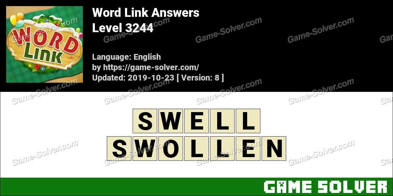 Word Link Level 3244 Answers