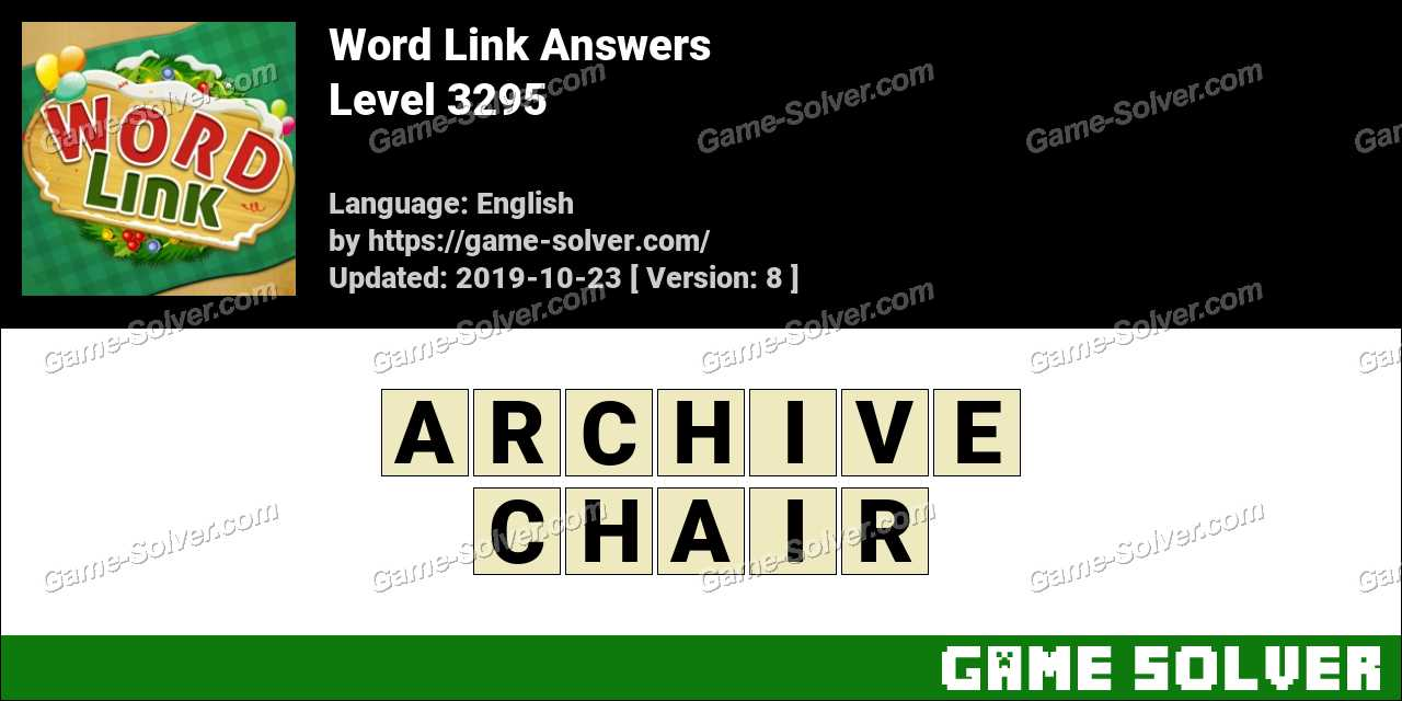 Word Link Level 3295 Answers