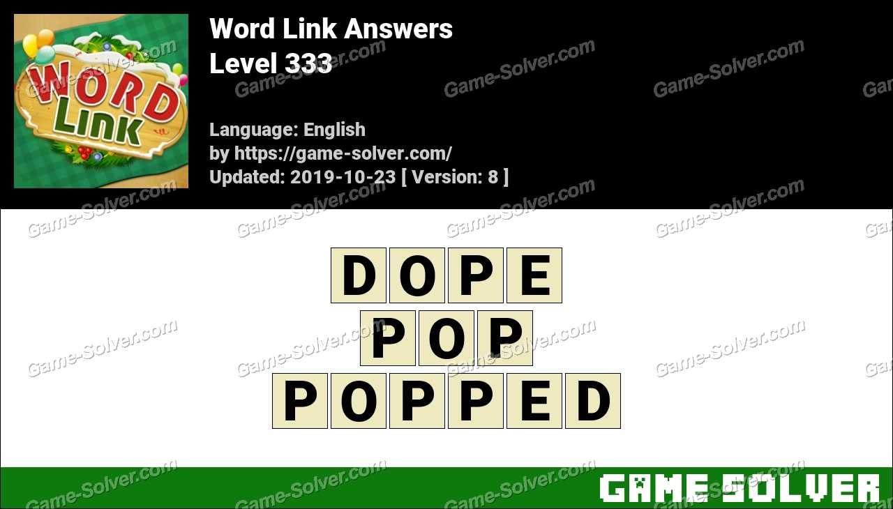 Word Link Level 333 Answers