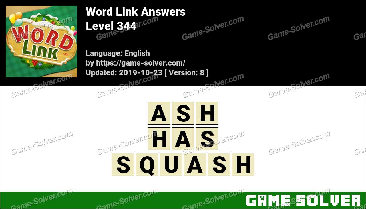 Word Link Level 344 Answers