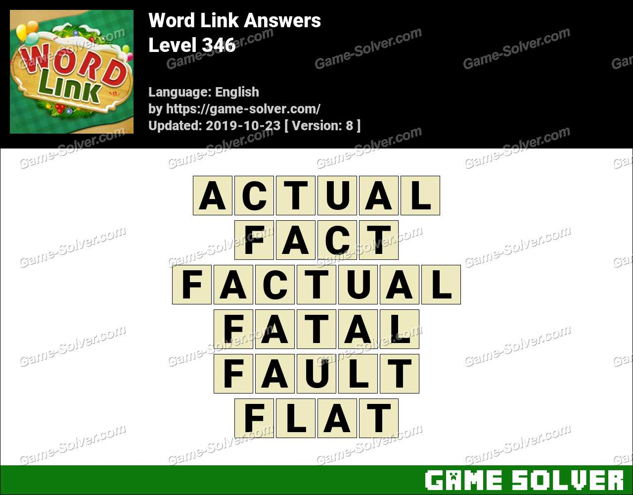 Word Link Level 346 Answers