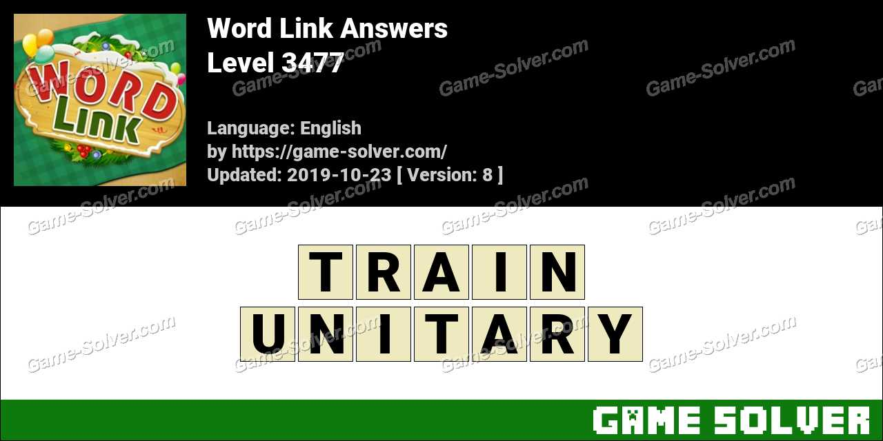 Word Link Level 3477 Answers