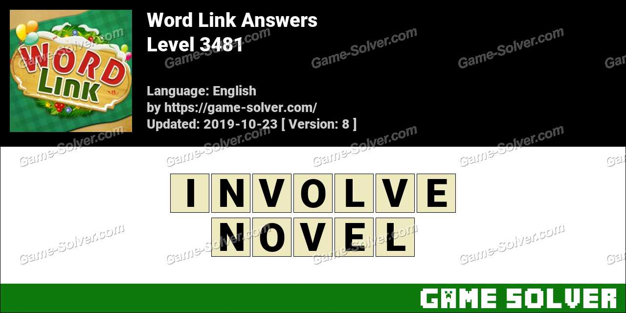 Word Link Level 3481 Answers