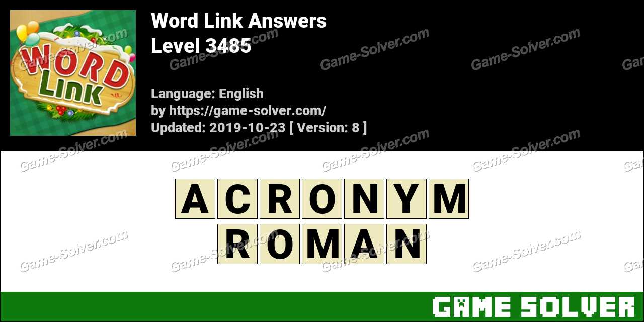 Word Link Level 3485 Answers