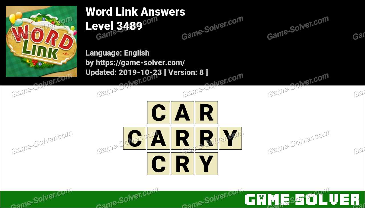 Word Link Level 3489 Answers