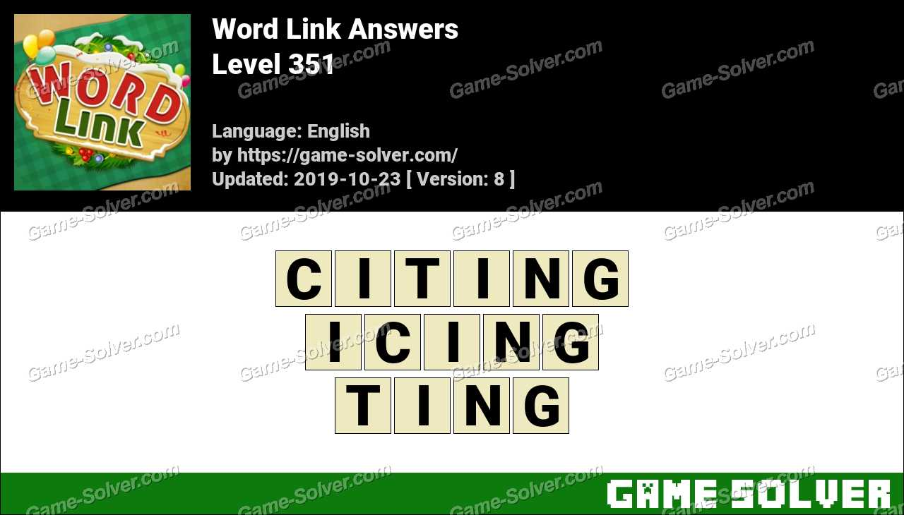 Word Link Level 351 Answers