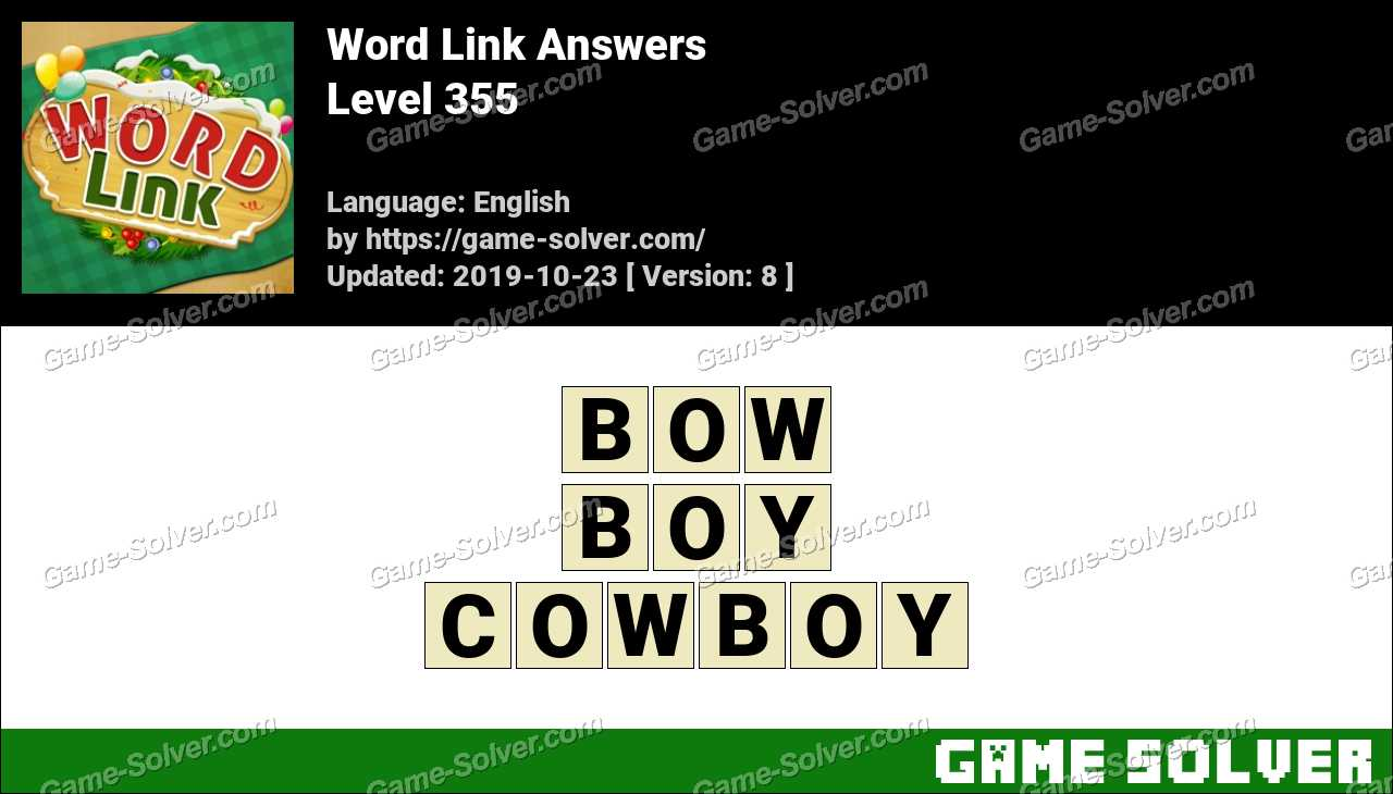 Word Link Level 355 Answers