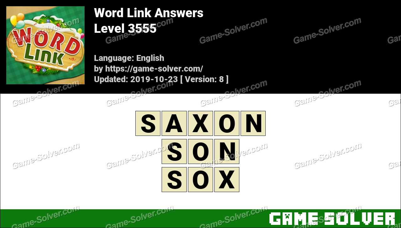 Word Link Level 3555 Answers