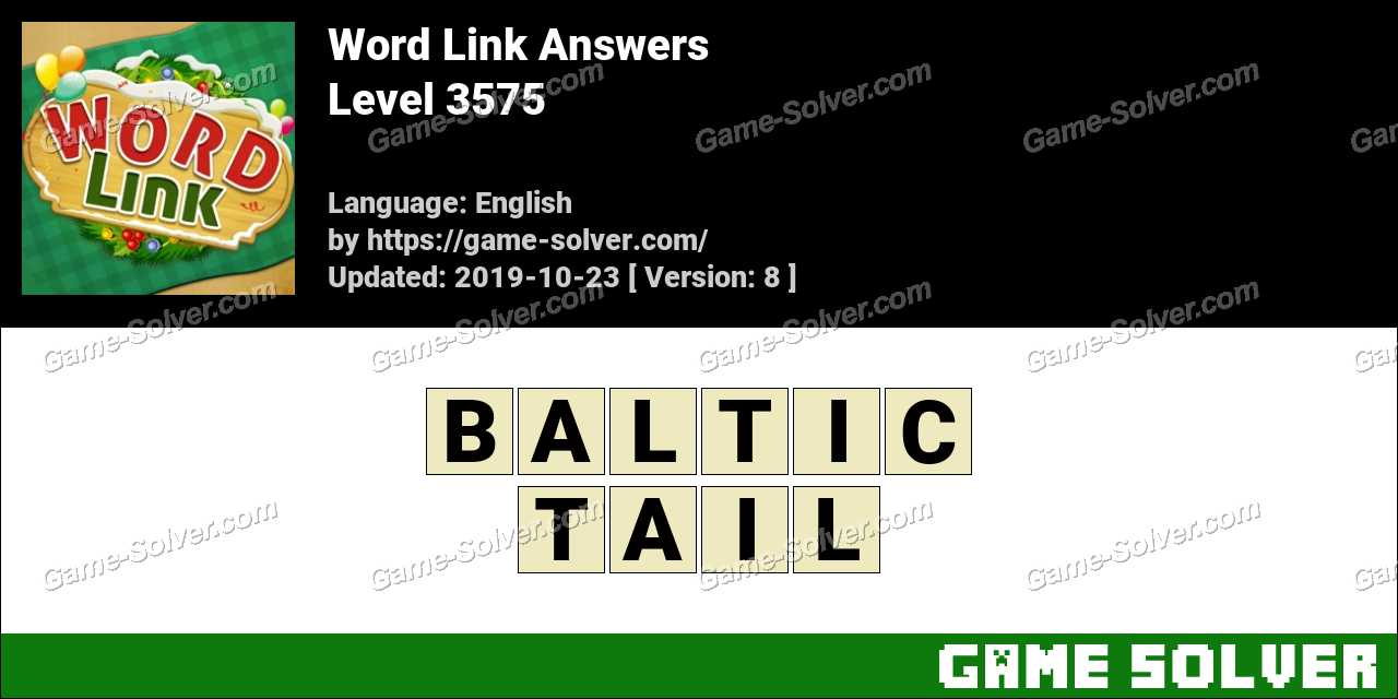 Word Link Level 3575 Answers