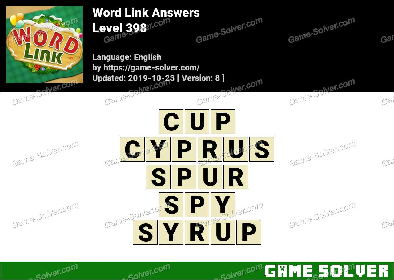 Word Link Level 398 Answers