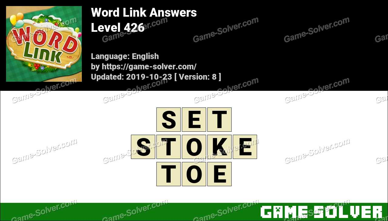Word Link Level 426 Answers