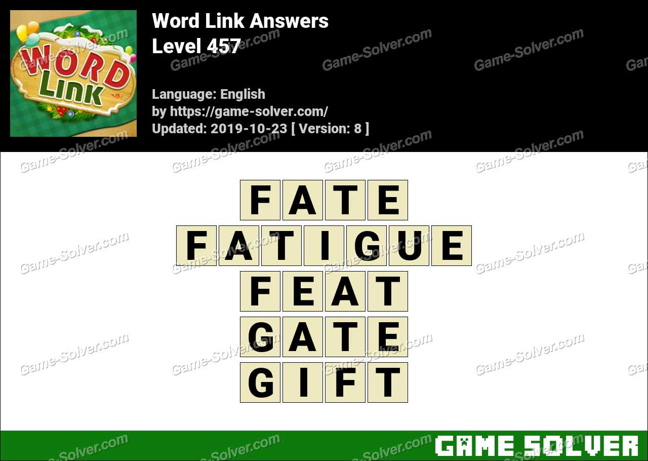 Word Link Level 457 Answers