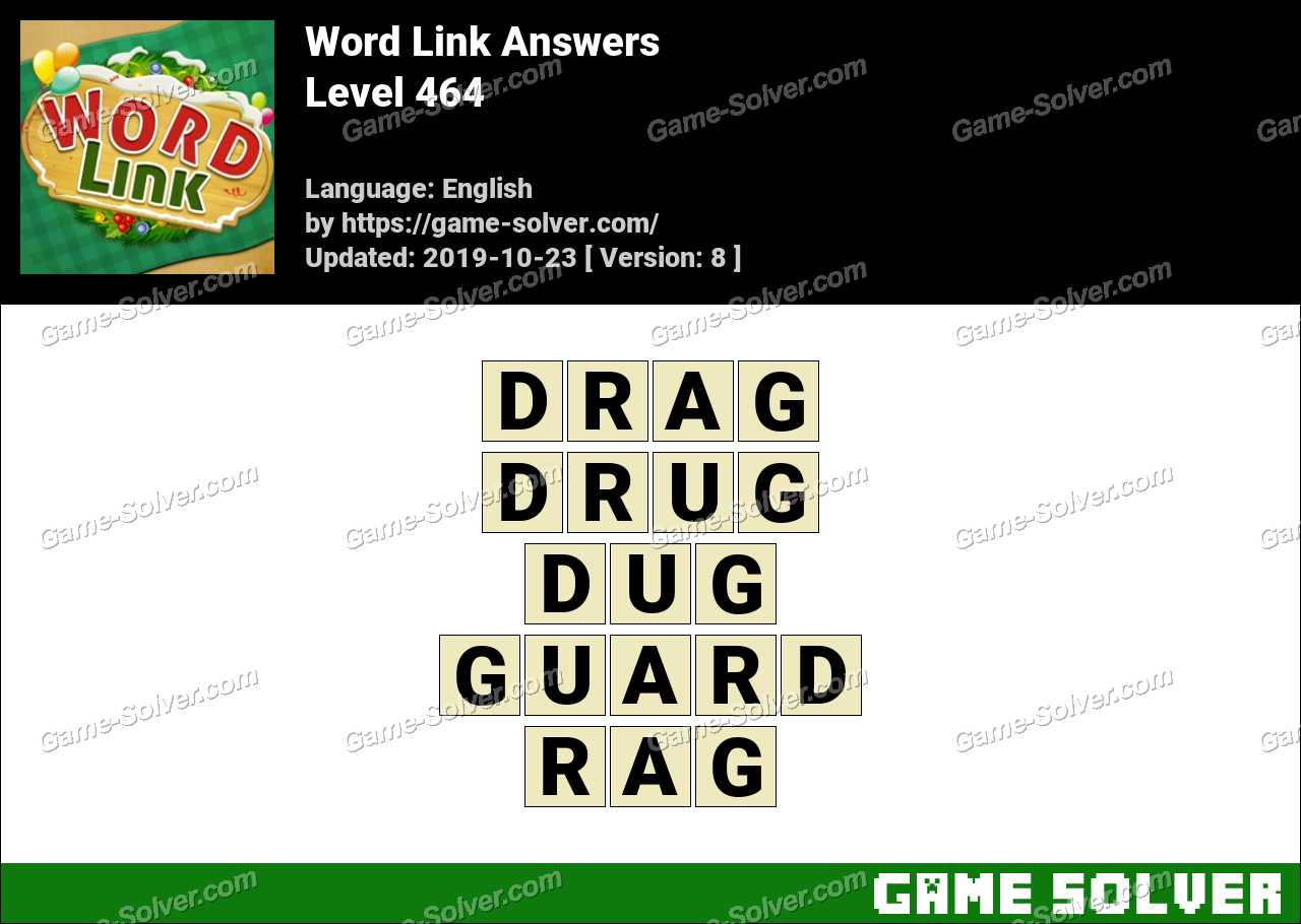 Word Link Level 464 Answers