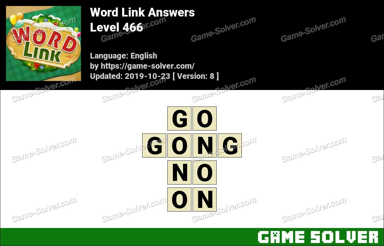 Word Link Level 466 Answers