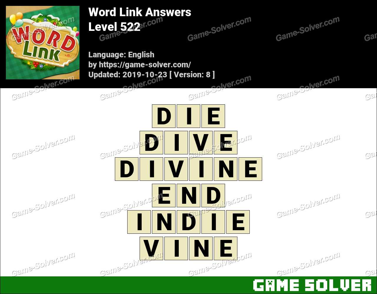 Word Link Level 522 Answers