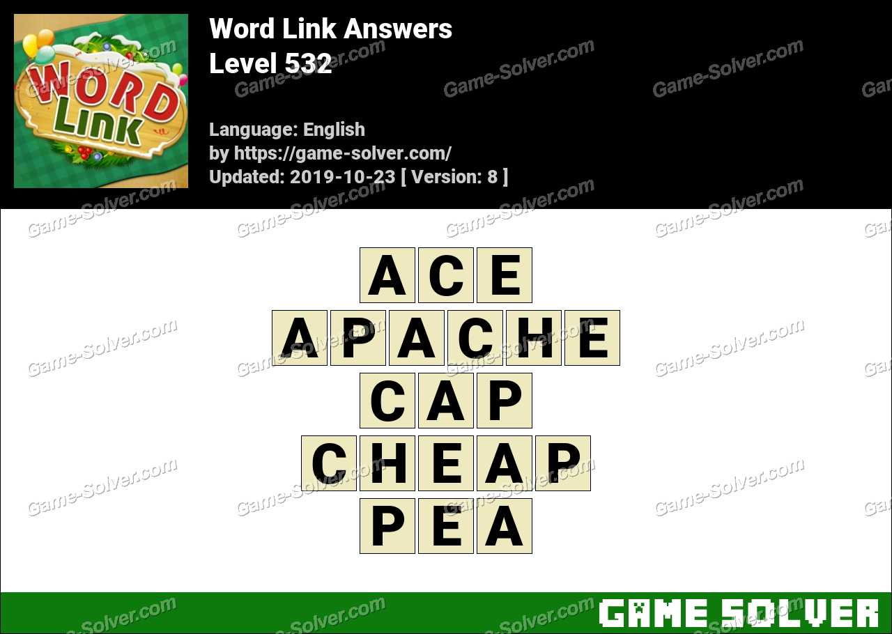Word Link Level 532 Answers
