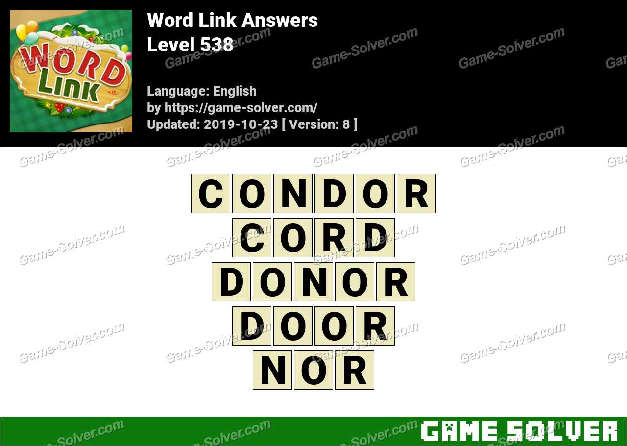 Word Link Level 538 Answers