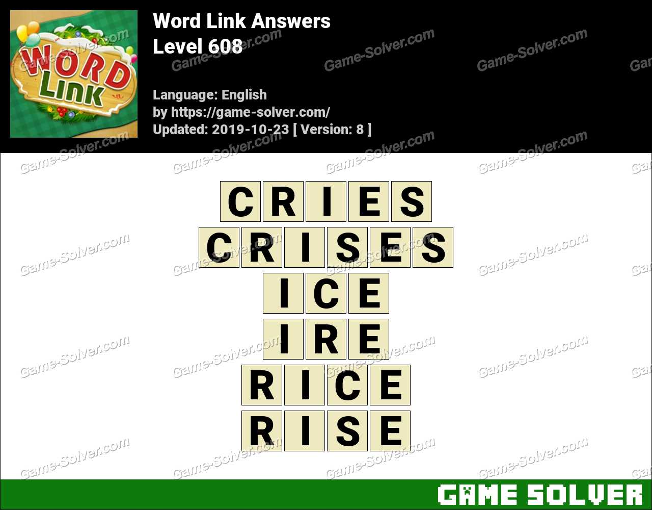 Word Link Level 608 Answers
