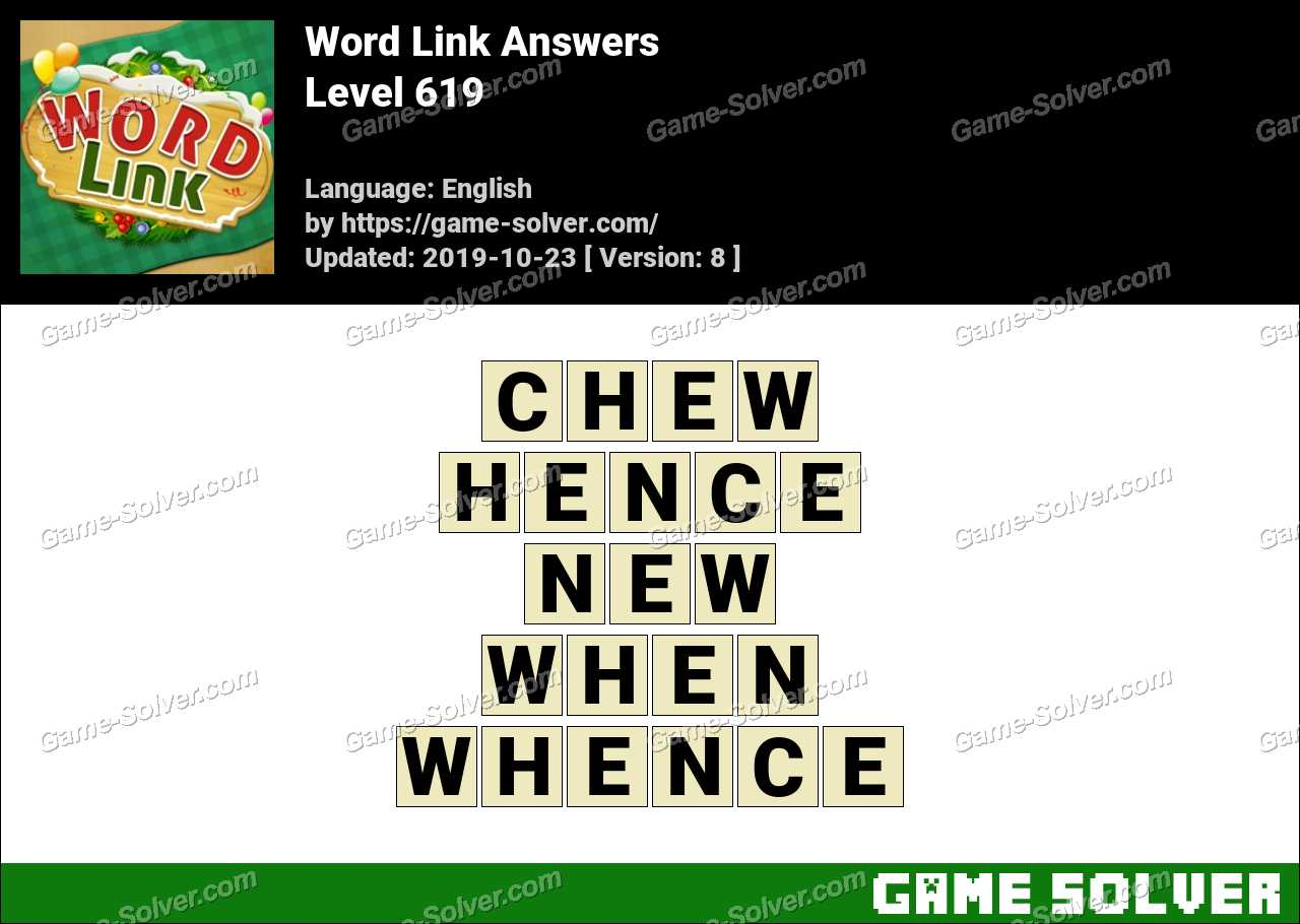 Word Link Level 619 Answers