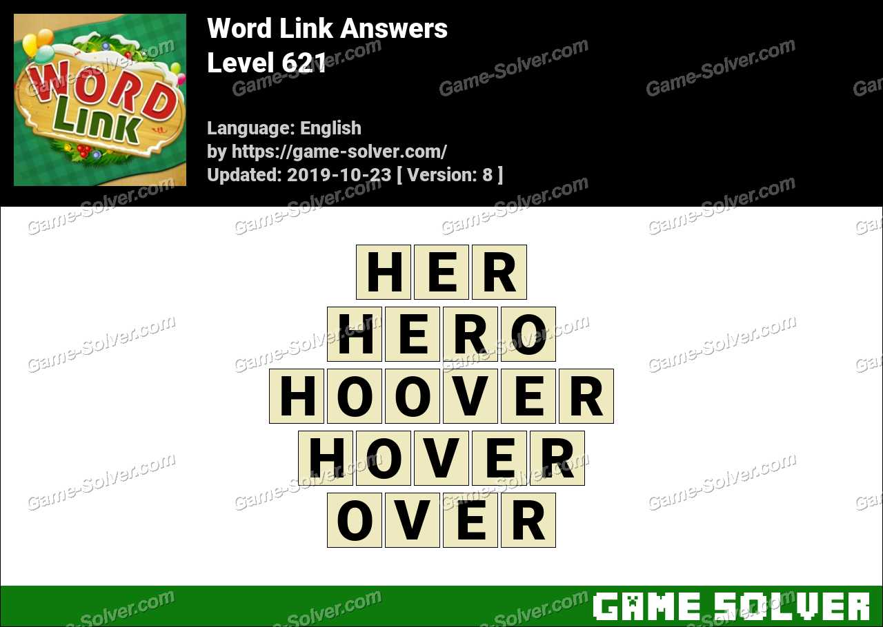Word Link Level 621 Answers