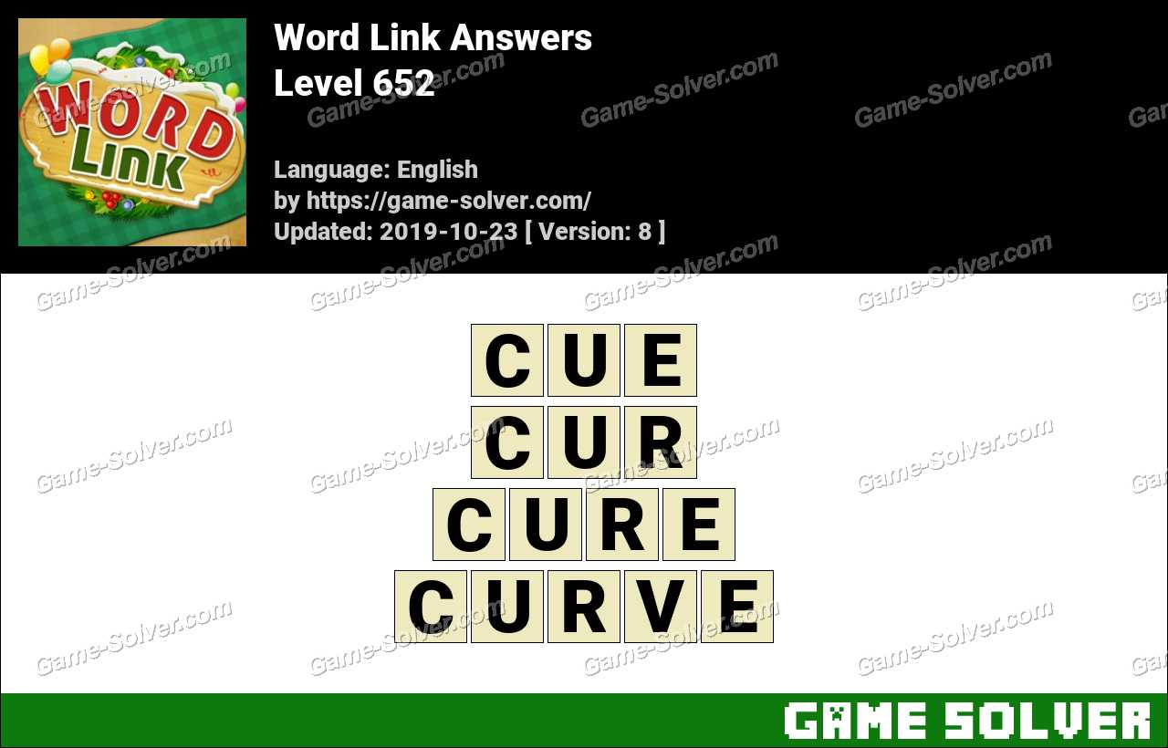Word Link Level 652 Answers