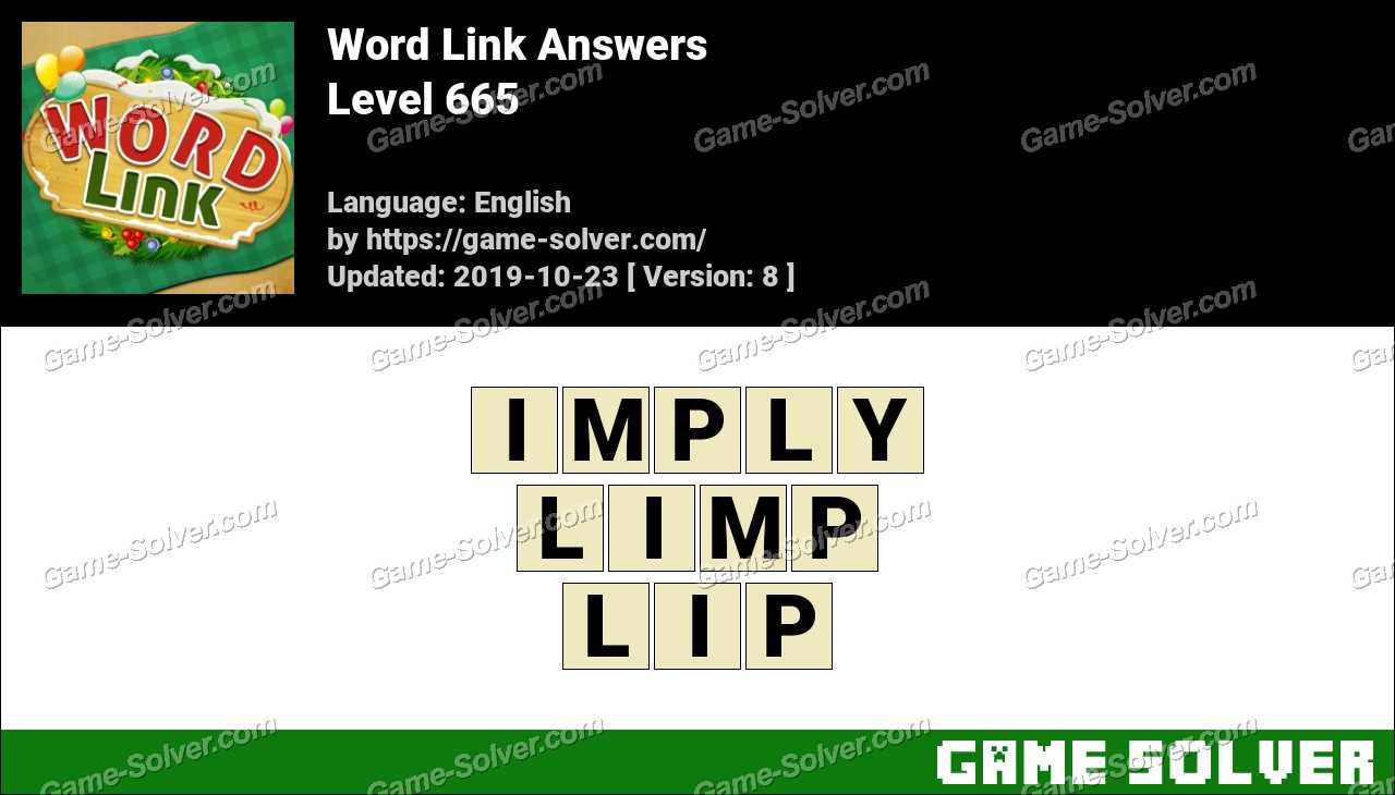 Word Link Level 665 Answers