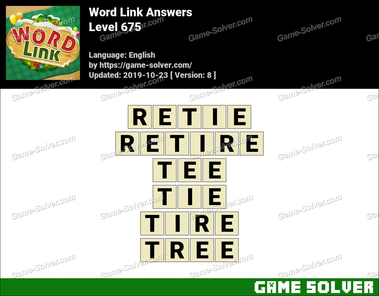 Word Link Level 675 Answers