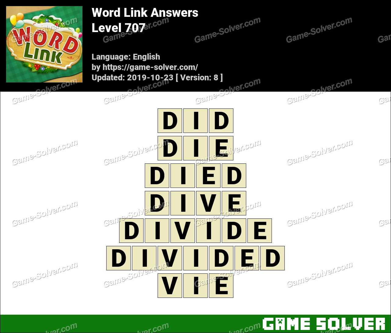Word Link Level 707 Answers