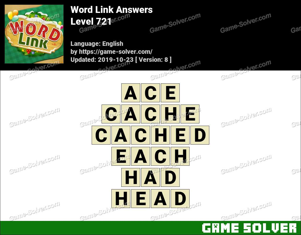 Word Link Level 721 Answers