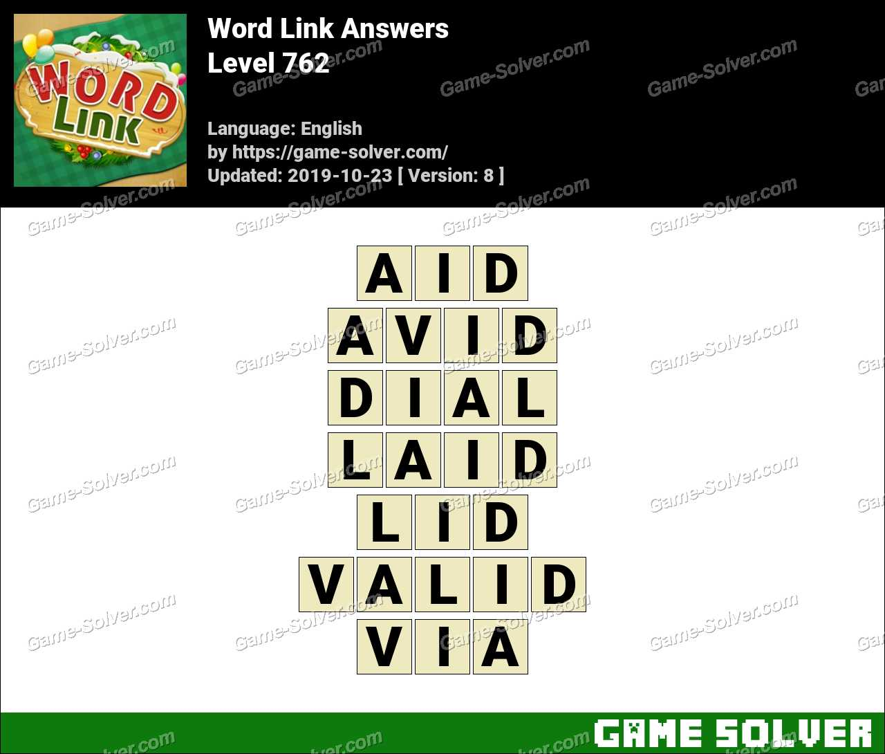 Word Link Level 762 Answers
