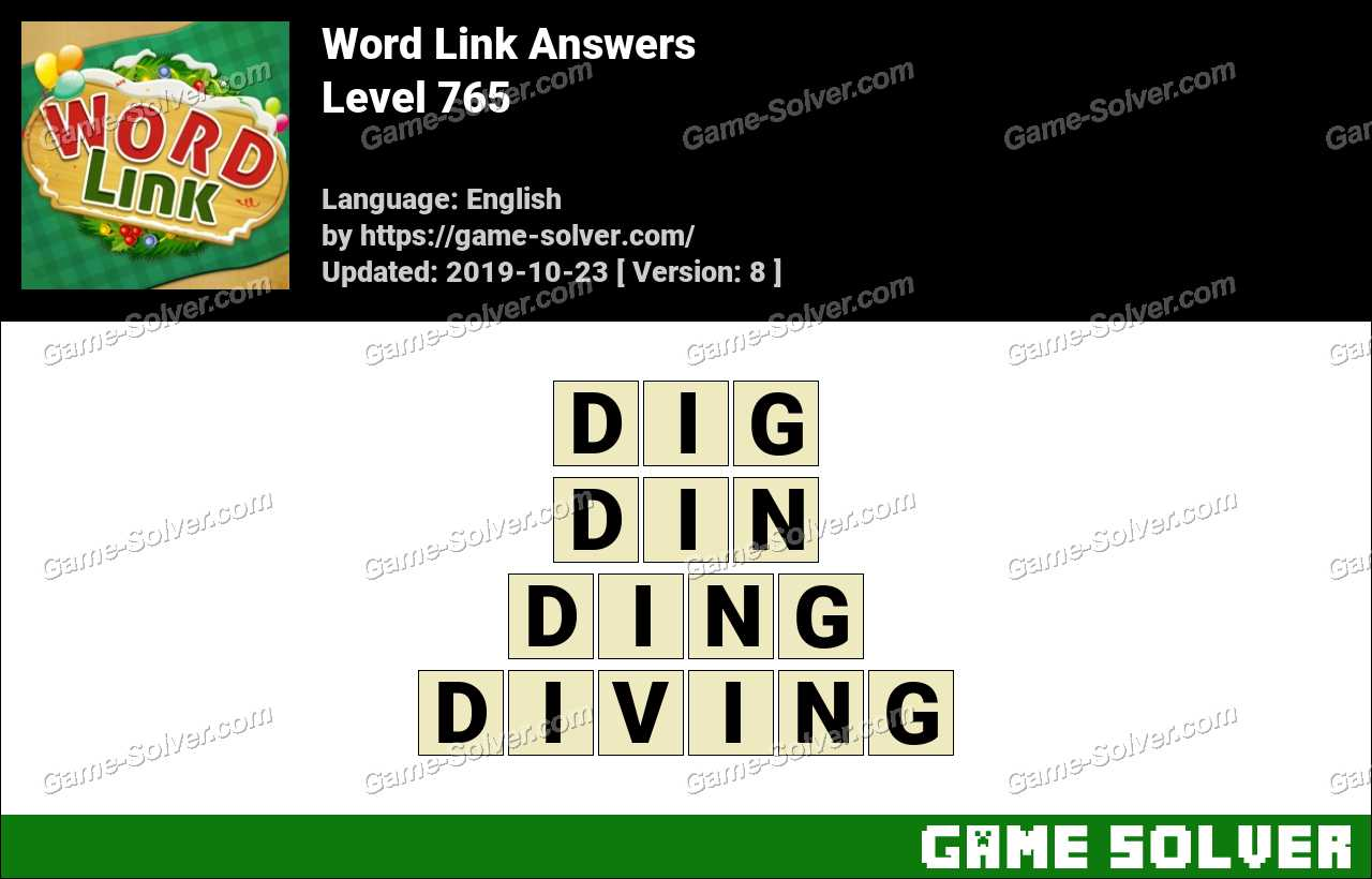 Word Link Level 765 Answers