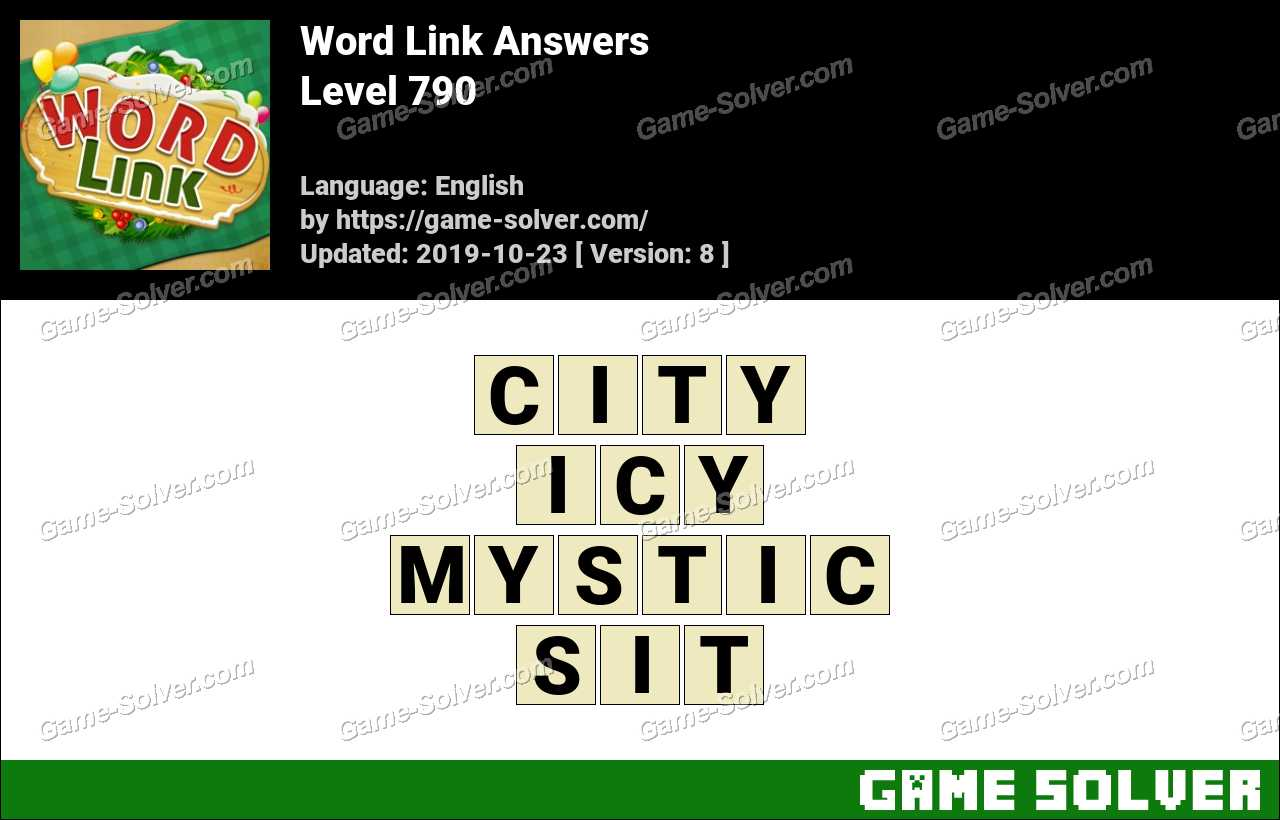 Word Link Level 790 Answers