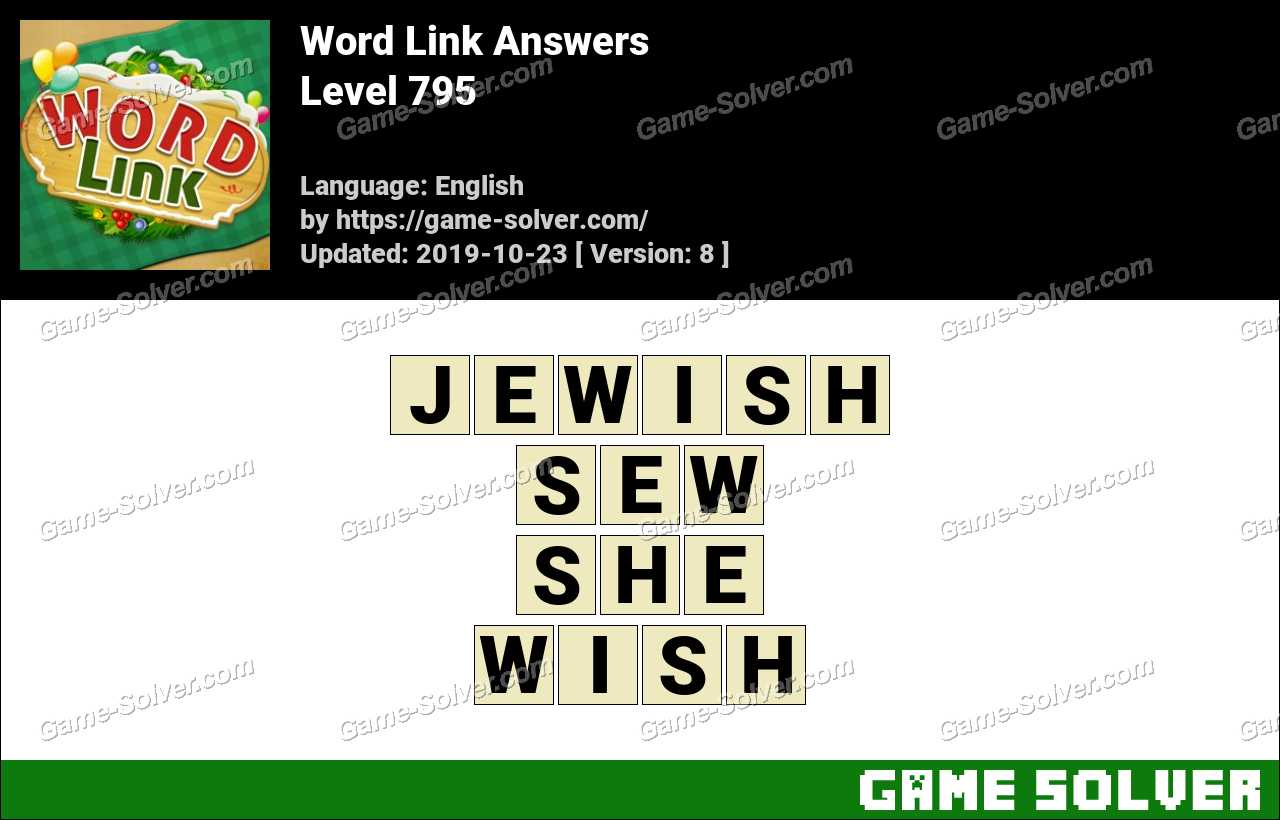 Word Link Level 795 Answers