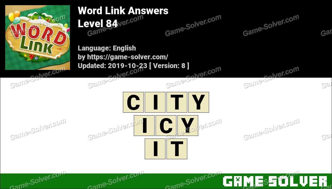 Word Link Level 84 Answers