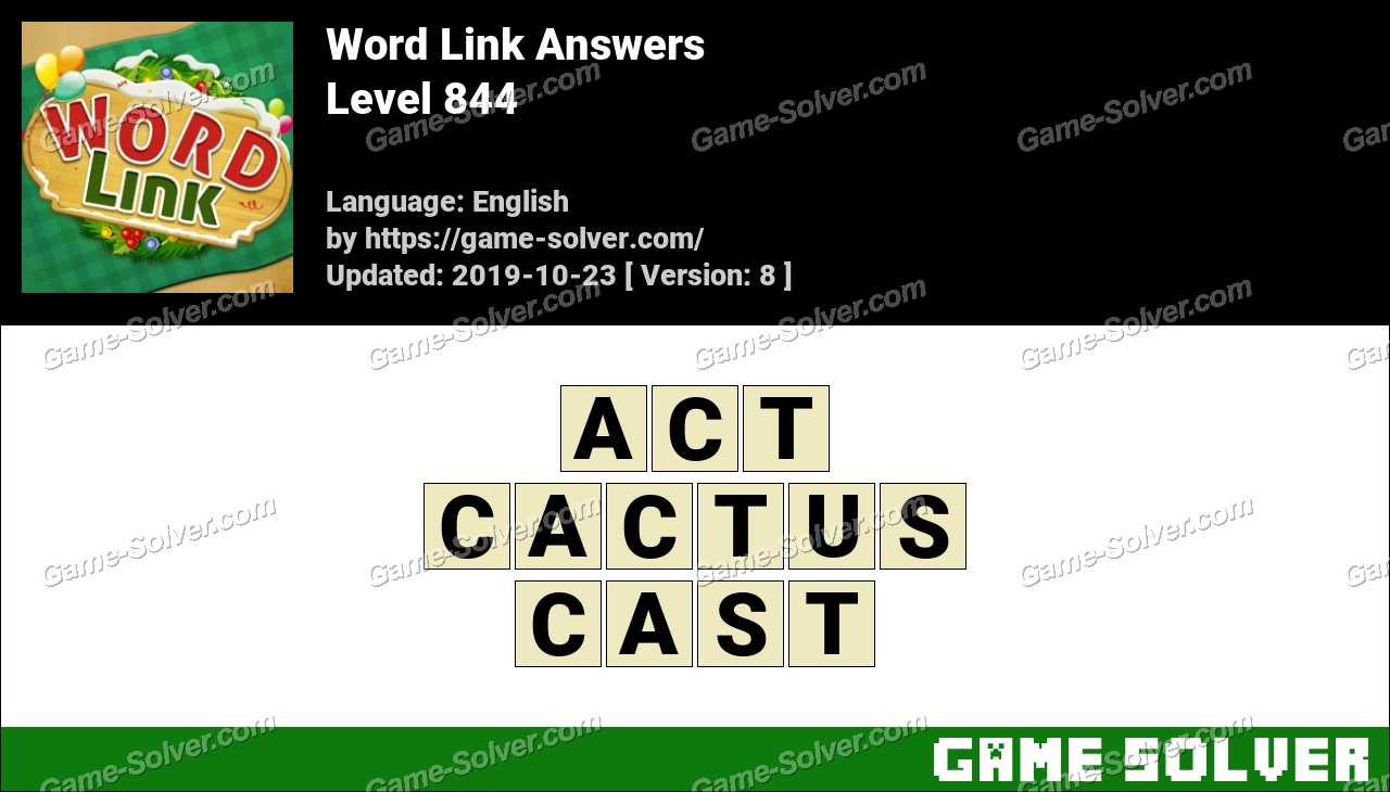 Word Link Level 844 Answers