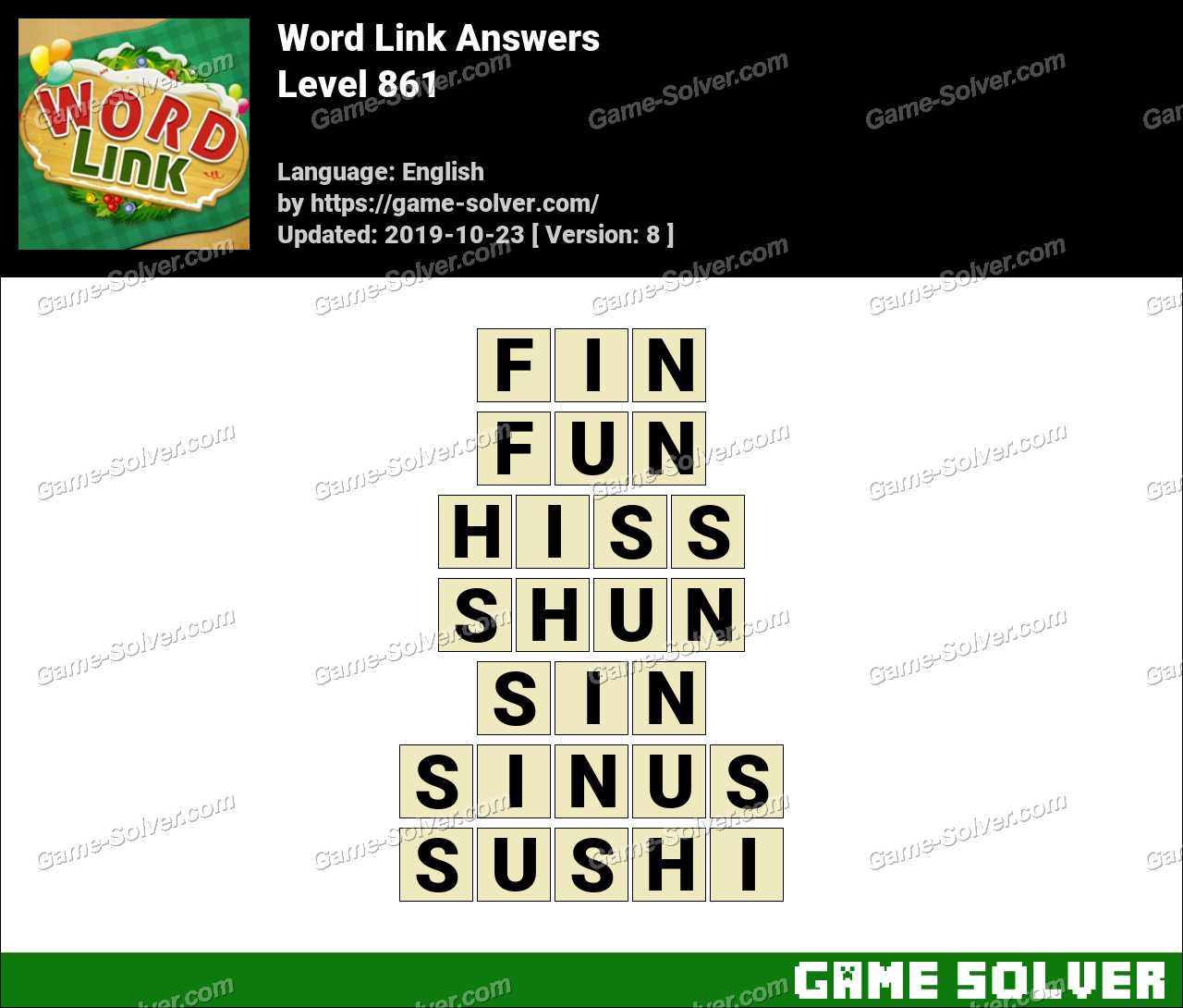 Word Link Level 861 Answers
