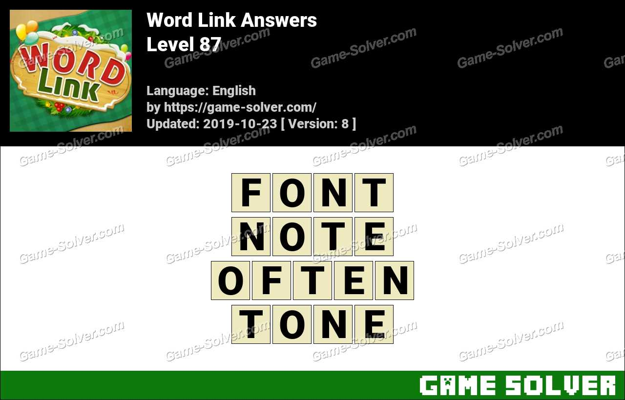 Word Link Level 87 Answers