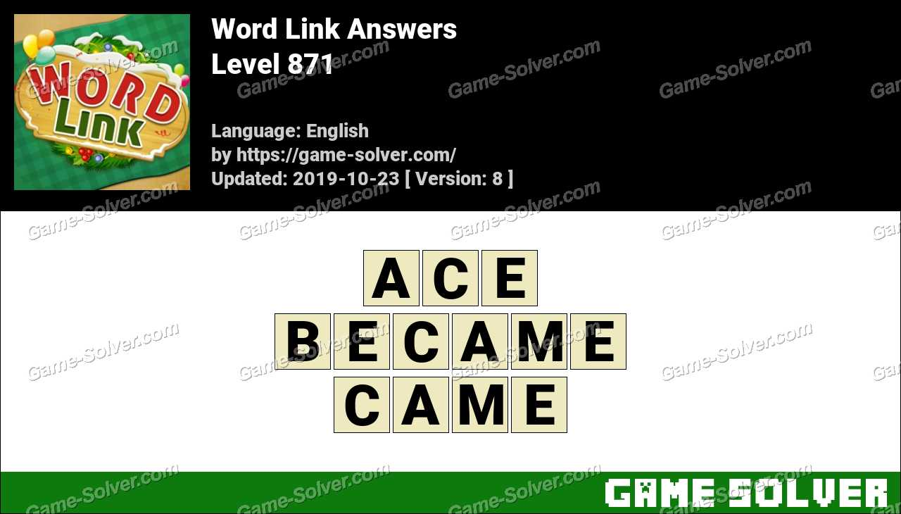 Word Link Level 871 Answers