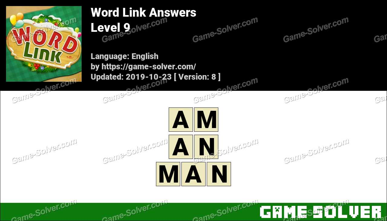 Word Link Level 9 Answers
