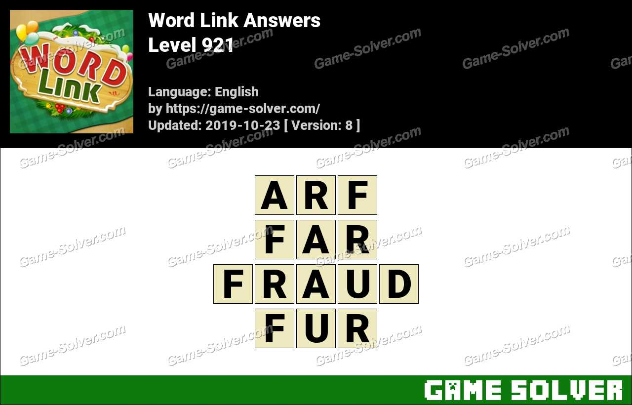 Word Link Level 921 Answers