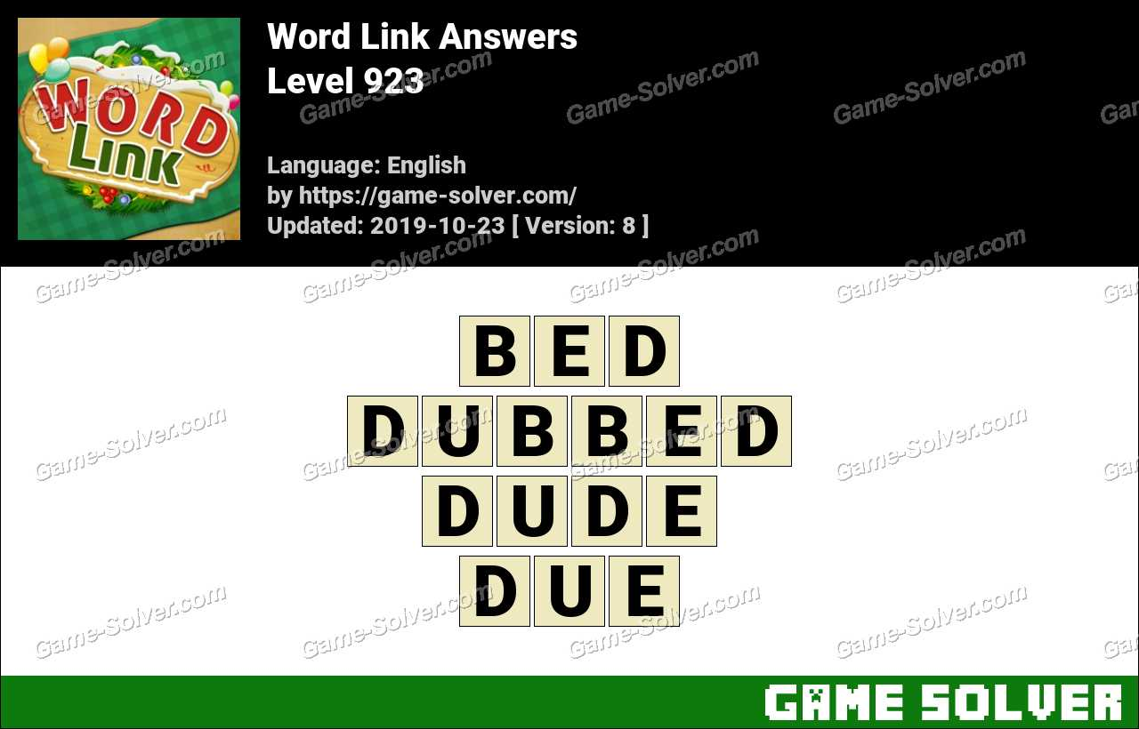 Word Link Level 923 Answers
