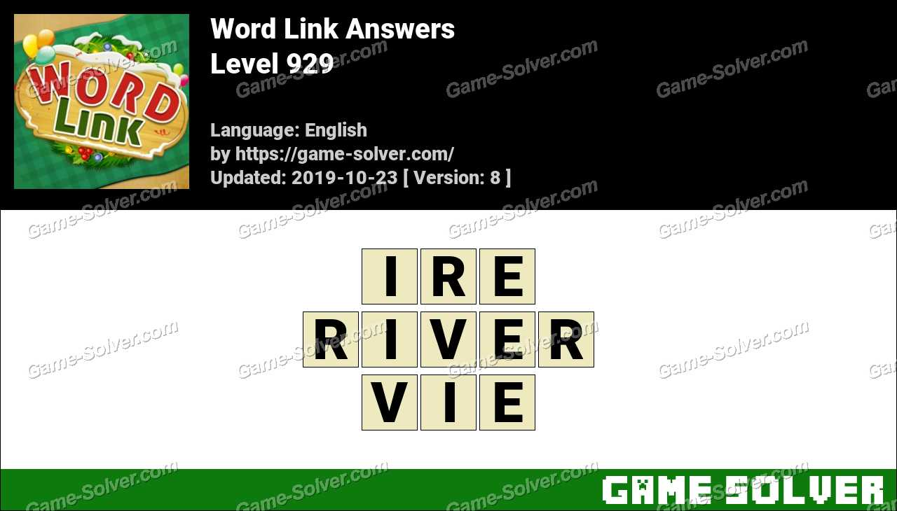 Word Link Level 929 Answers