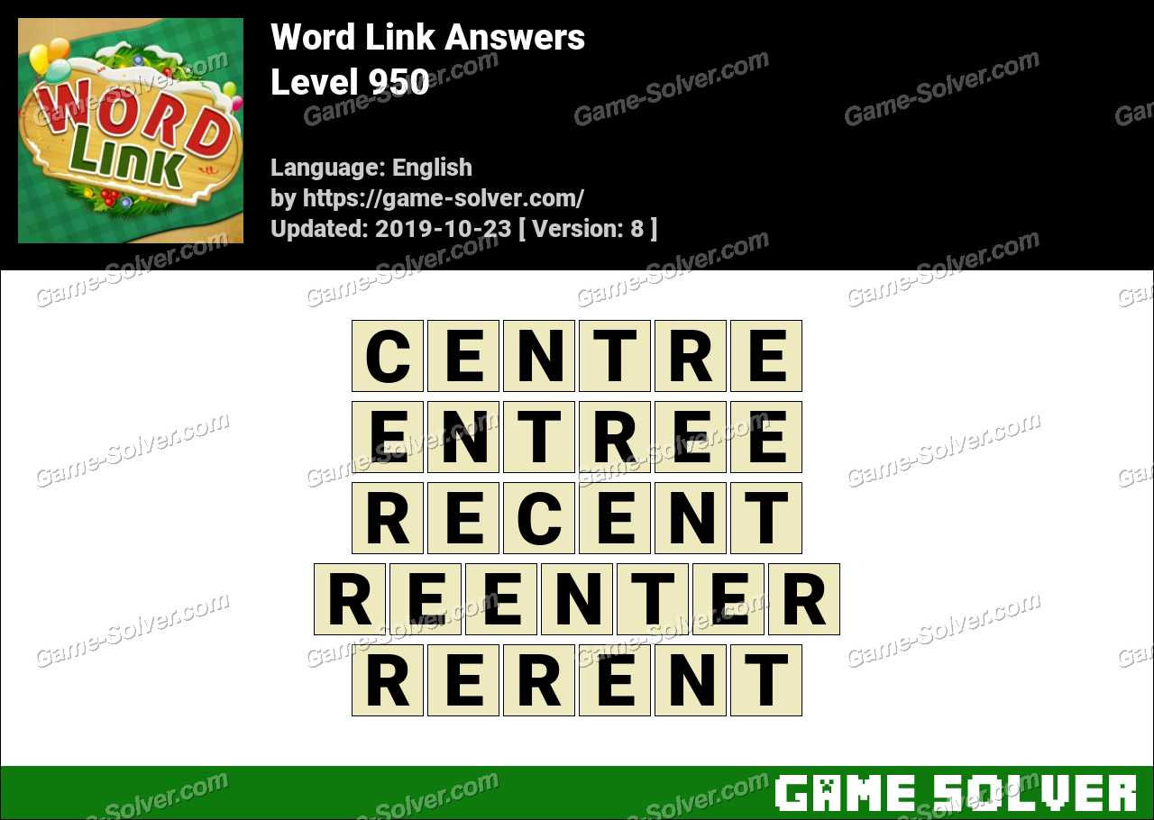 Word Link Level 950 Answers